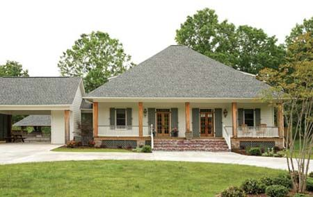 Acadian houses on pinterest acadian house plans house Cajun cottage plans