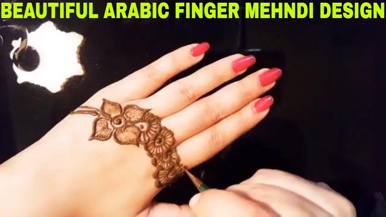 Beautiful Arabic Finger Mehndi Design Tutorial