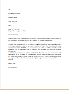 Agreement Letter Download At HttpWwwTemplateinnCom