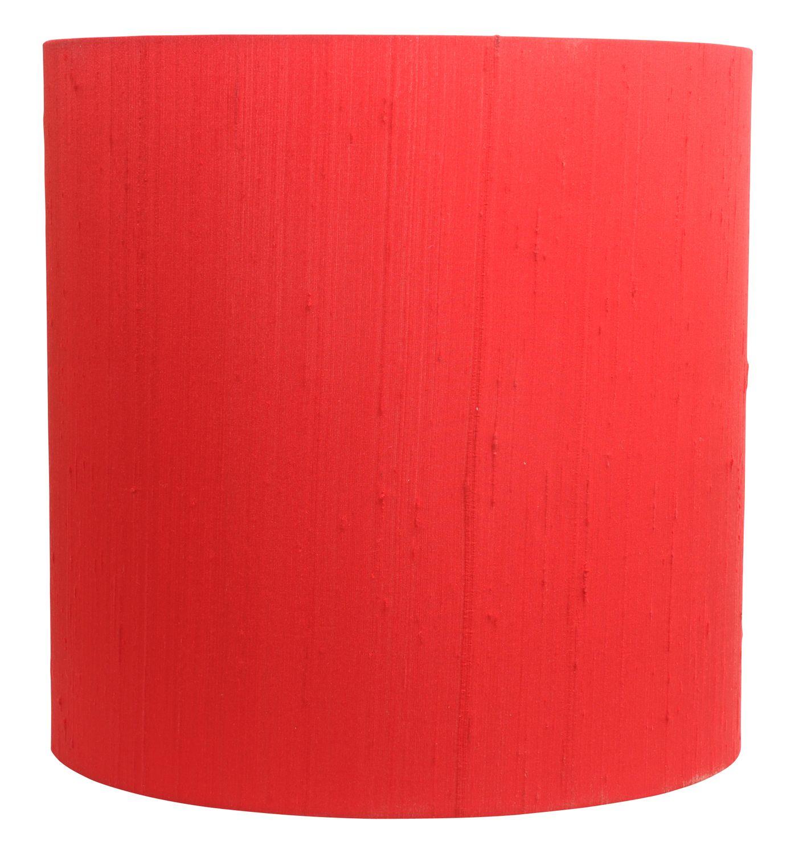 Heals Silk Bright Red Drum Lampshade Modern Lamp Shades Lamp