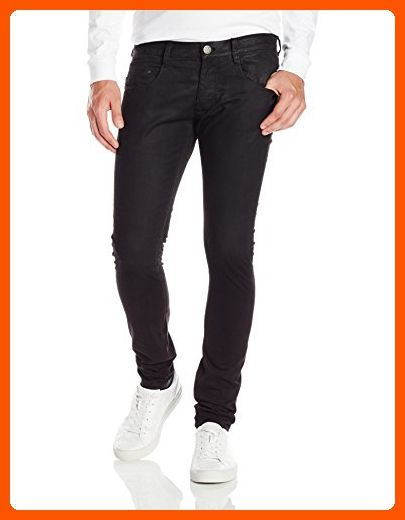 e31c6bb9486e7 Armani Jeans Men's J35 Extra Slim Fit Degrede Coated Jeans, Black ...