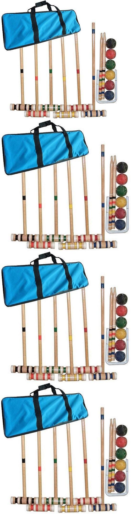 croquet 117210 wooden croquet set ball game backyard lawn yard