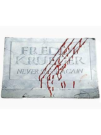 Freddy Krueger Nightmare on Elm Street Foot Stone Graveyards