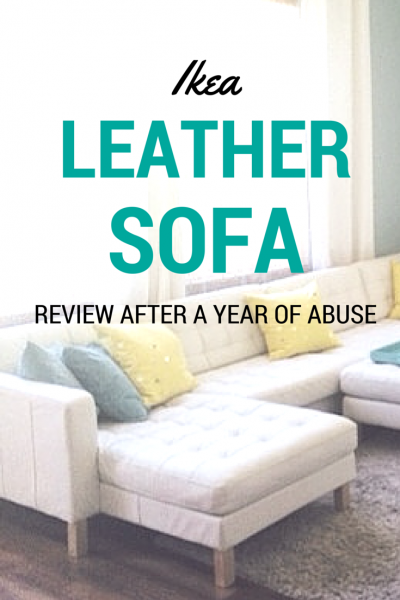 The Big White Ikea Leather Sofa Review New house Pinterest