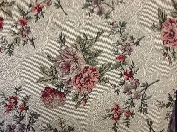 Vintage floral and lace upholstery fabric.  (7 yards) on the bolt.  This is stunning in person.