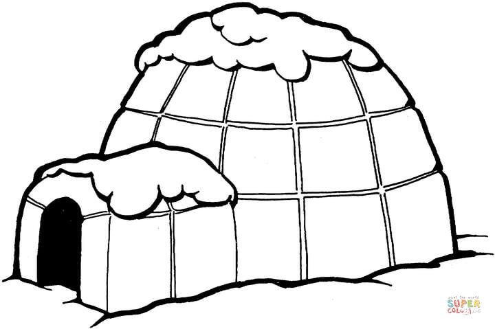 Igloo Coloring Page Free Printable Coloring Pages With Images