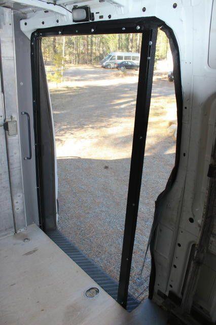 Sprinter roll away retractable bug screen for slider door for Roll away retractable screen doors