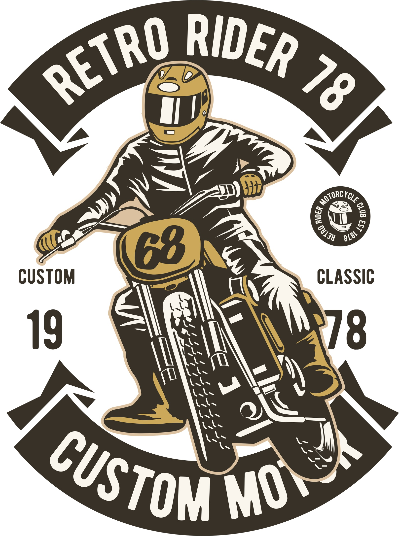 Retro Rider Print Free Vector Cdr Download 3axis Co Free T Shirt Design Retro Shirt Design Vector Free