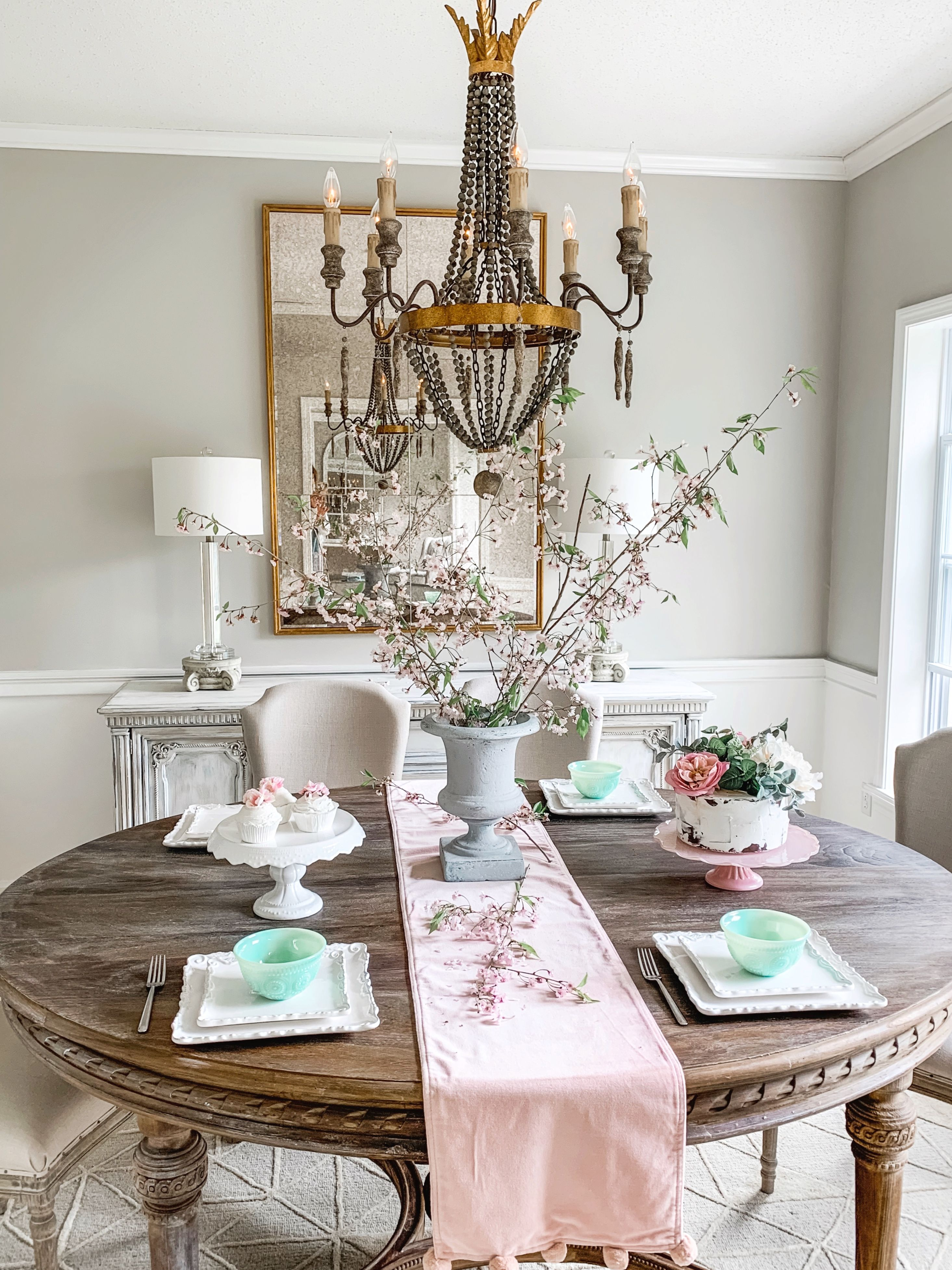 French Country Farmhouse Shabby Chic Dining Room