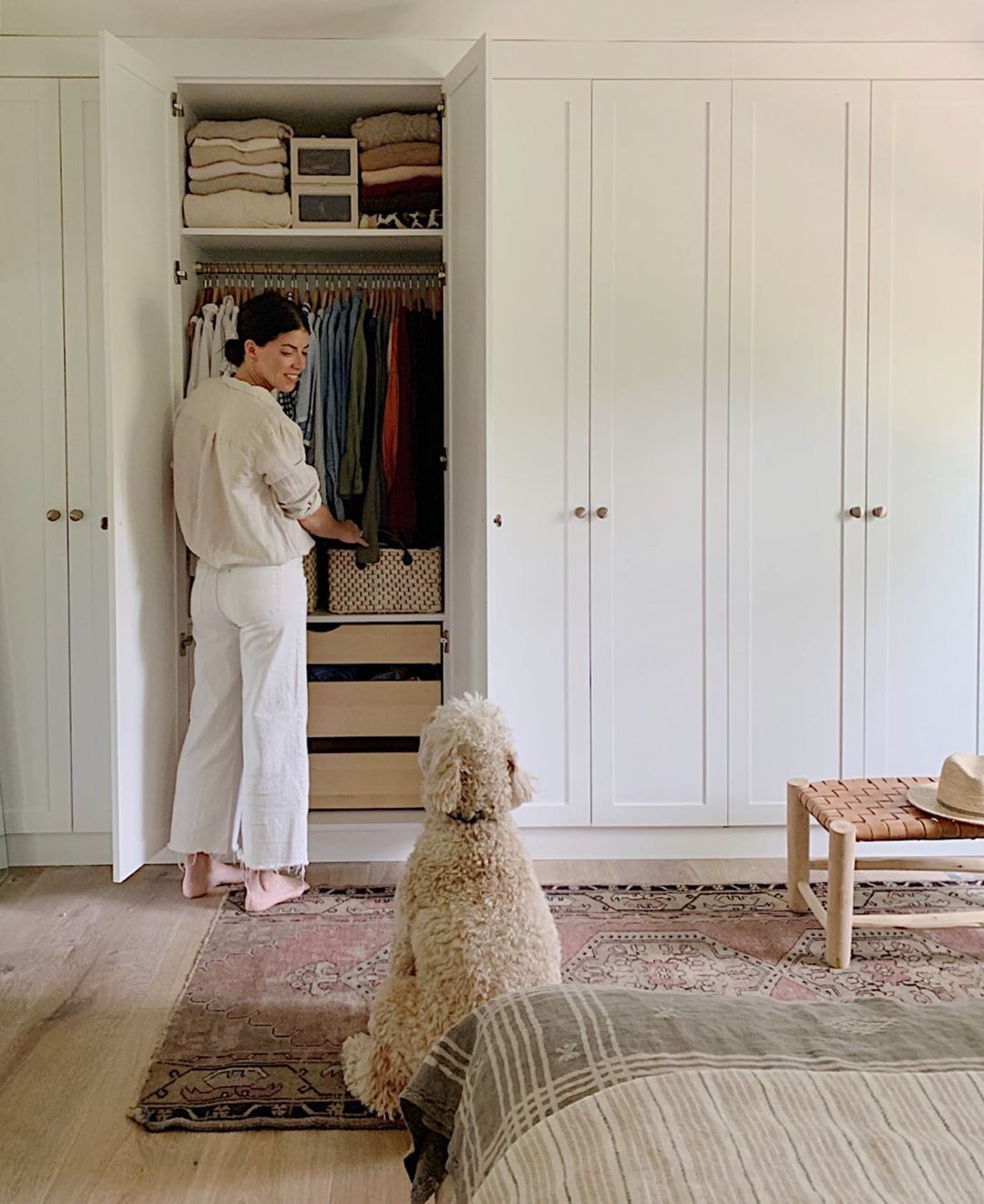 """Anissa Zajac on Instagram: """"OH. MY. GAWD. I'm so in love with these built in wardrobes! Can you fall in real, over the moon love, with a closet?! I most certainly did…"""""""