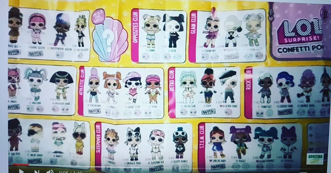 The Full Series 3 Wave 2 List We Cannot Wait So Many Cuties In The Confetti Pop Series Thank You To Adulting With Childern For The Sc Lol Dolls Lol Surprise