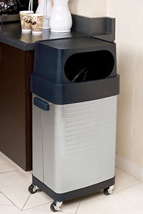 Trash Cans For Kitchen With Wheels Lid Stainless Steel 17 Gallon Commercial  #SevilleClassics