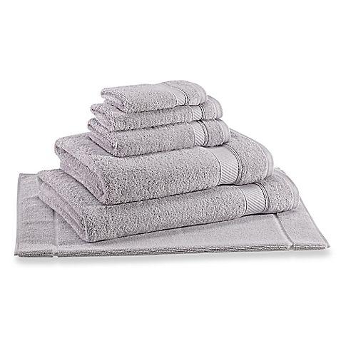 Wamsutta Hygro Duet Bath Towels In Chrome Wamsutta Towel Bath