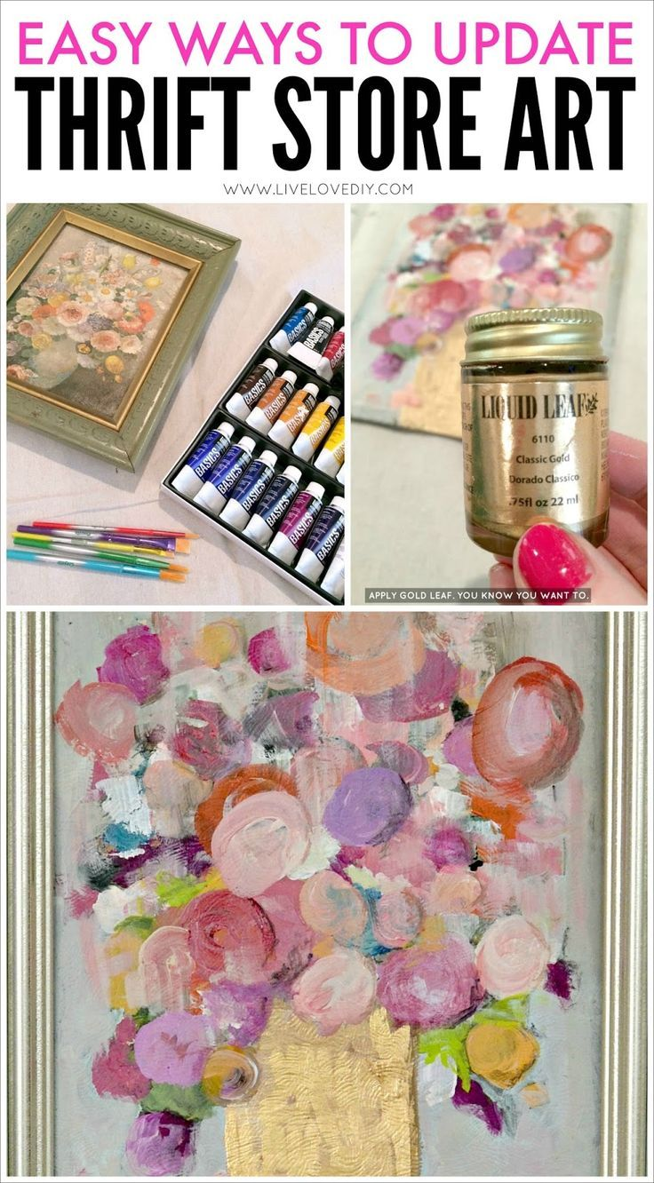 f9b571a013 Easy Ways To Update Thrift Store Art! Love this idea!