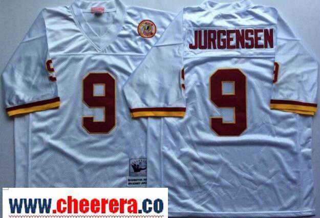 ... greece mens washington redskins 9 sonny jurgensen white throwback jersey  by mitchell ness nfl mn throwback 81a9dba56