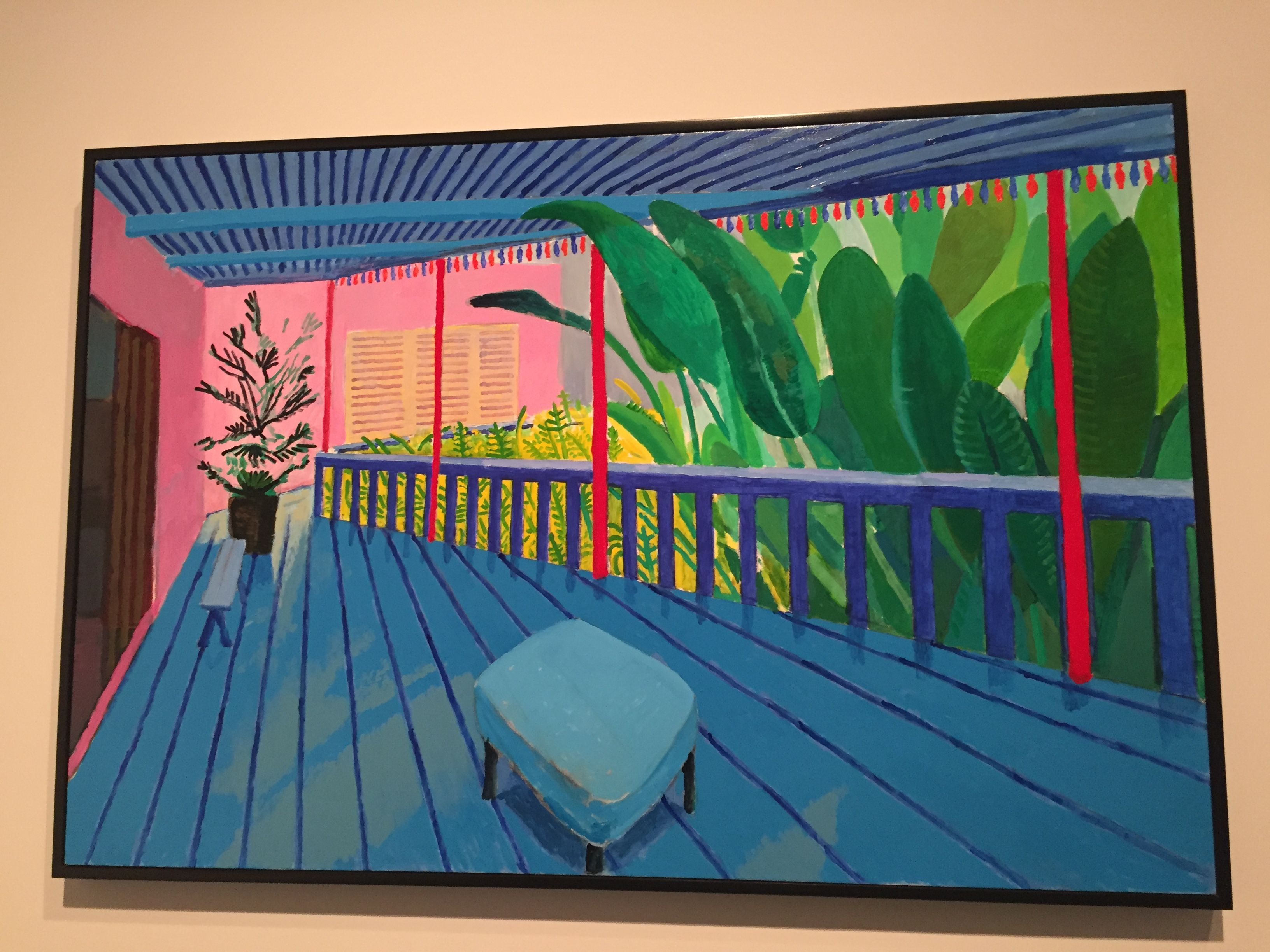 "detailed pictures 71af1 64fa2 David Hockney, ""Garden with Blue Terrace,"" 2015, Metropolitan Museum of Art"