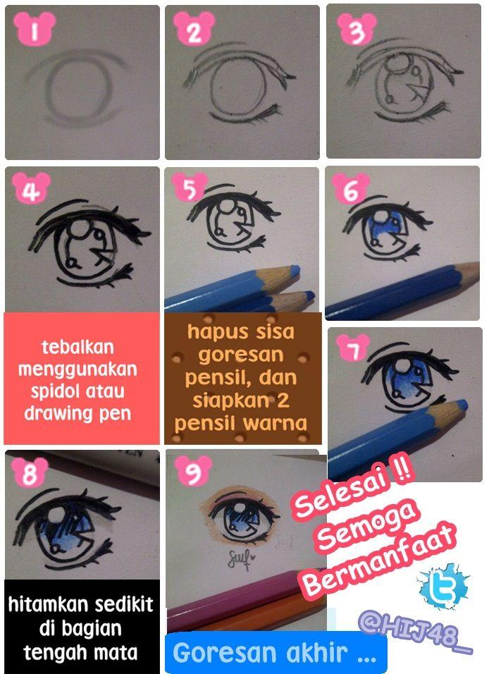 cara menggambar mata... 3 Hehehehe. sorry (Dengan gambar