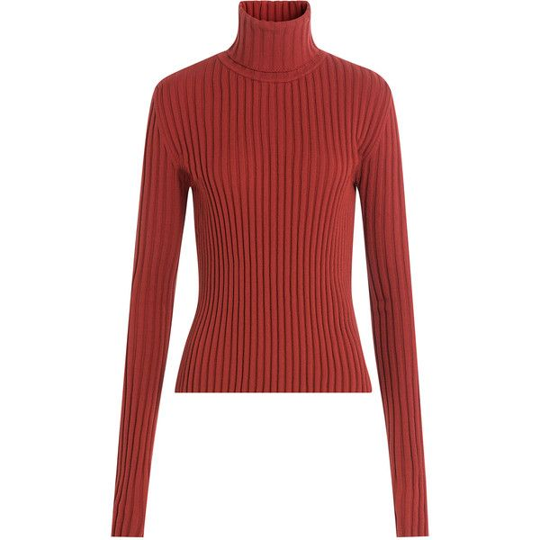 Vetements Ribbed Turtleneck Pullover (€545) ❤ liked on Polyvore ...