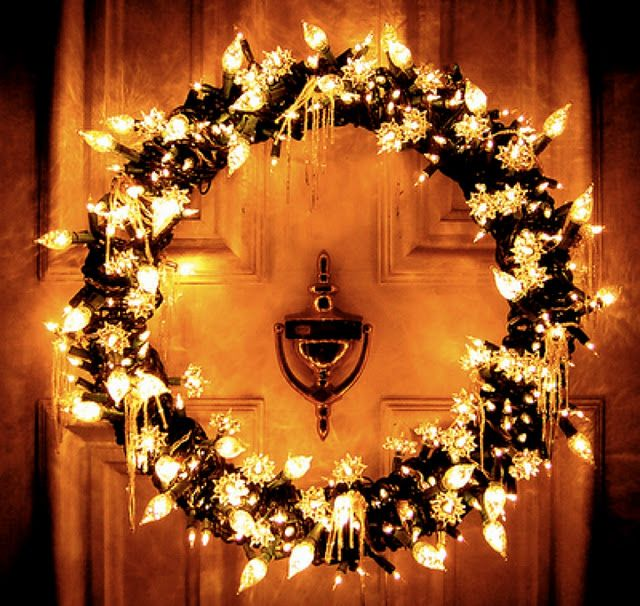 wreath christmas timechristmas lightschristmas