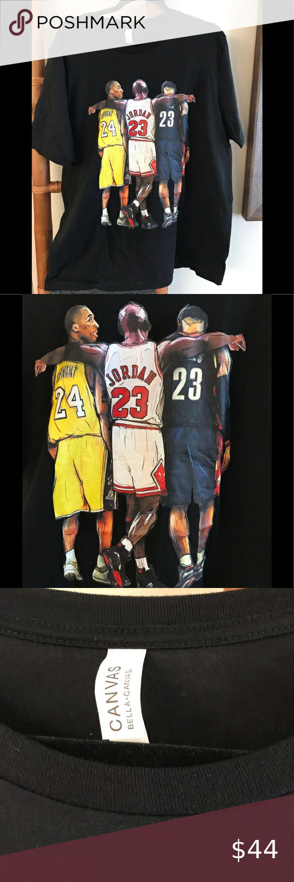 Canvas Kobe Bryant Jordan James Tee New Festival T Shirts Kobe Bryant Tees [ 1740 x 580 Pixel ]