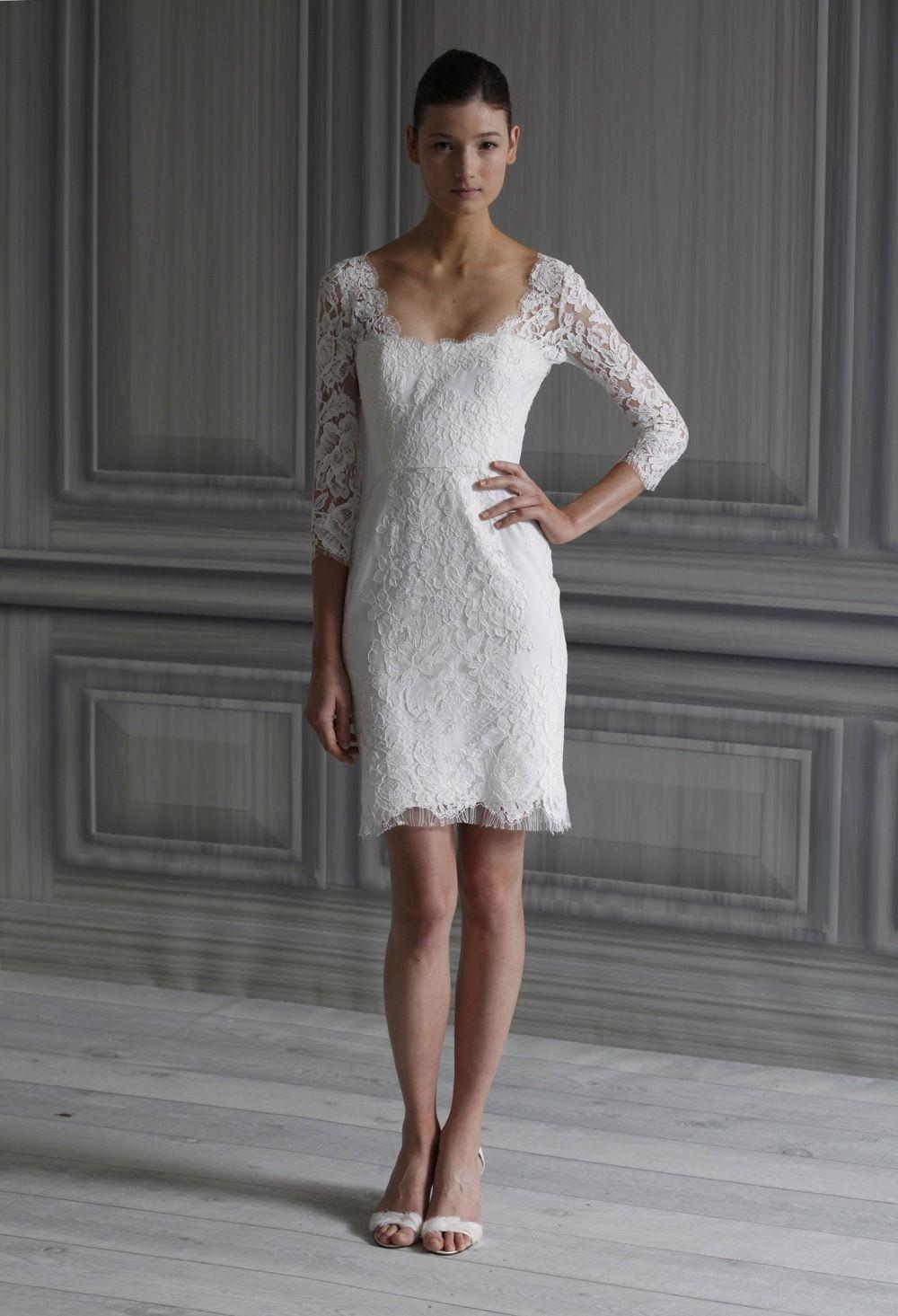 Monique lhuillier spring dede vestiti sposa corti pinterest