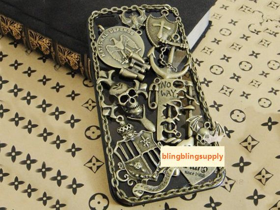 Retro Skull Chain Studs Case iphone by blingblingsupply on Etsy, $23.99