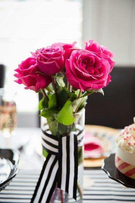 Ideas Para Una Fiesta De Xv Anos Con Rayas Y Flores Mom 50th