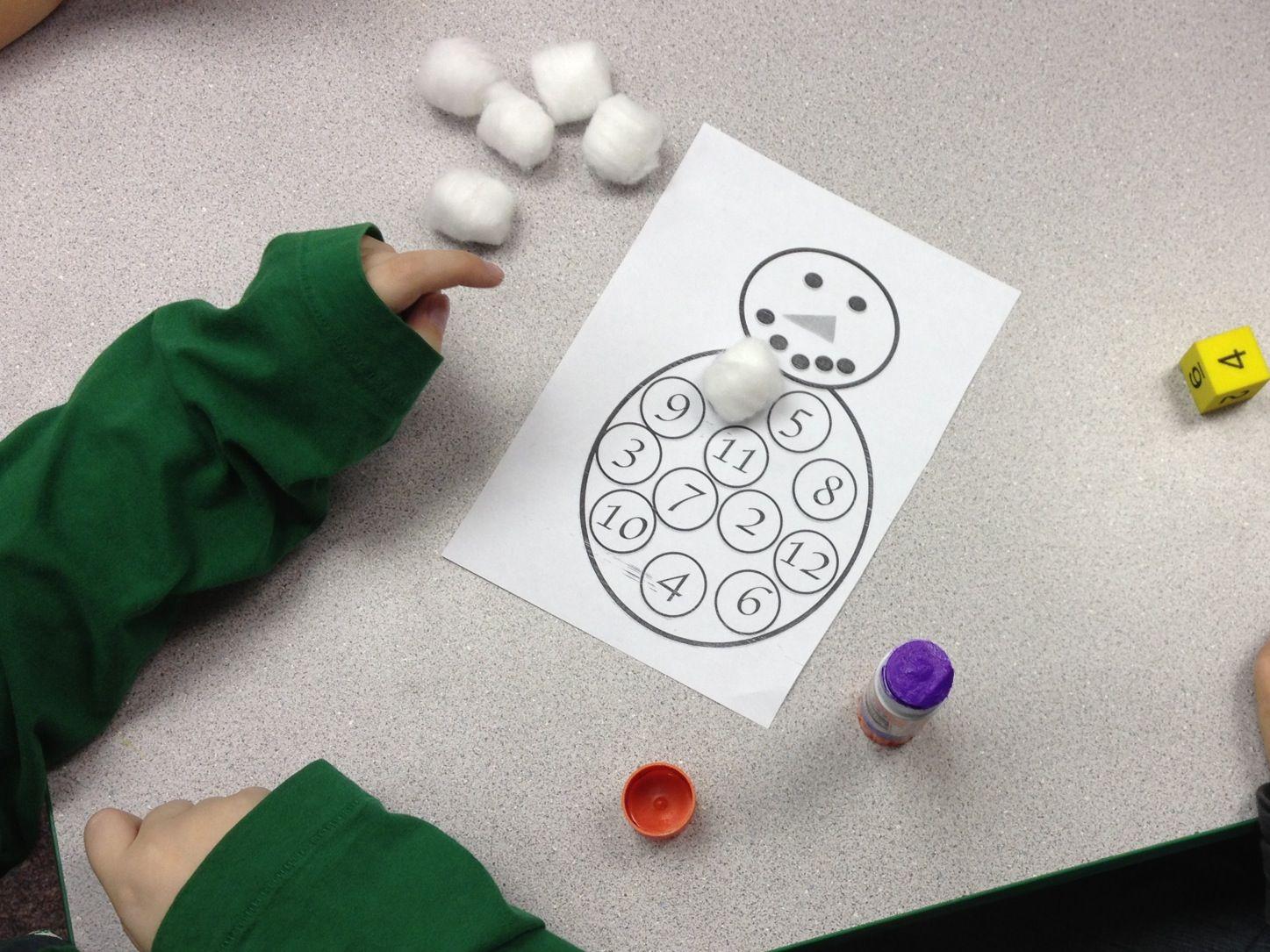 A Snowman Number Activity