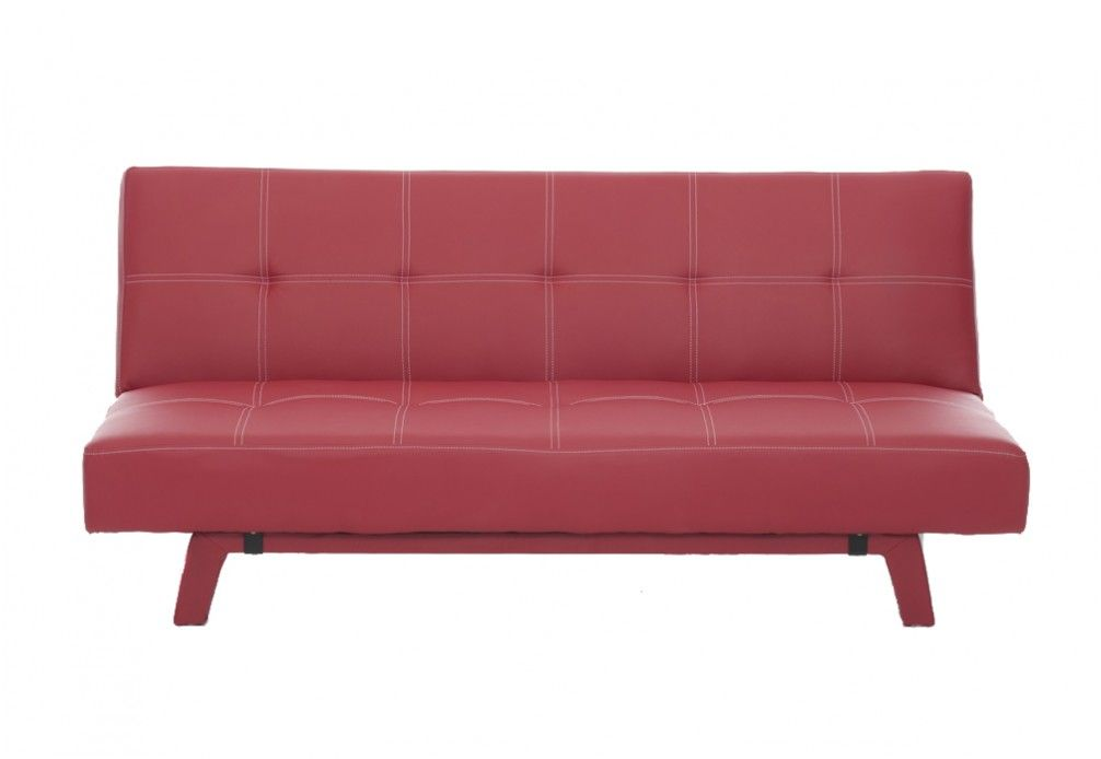 iris leatherlook click clack sofa bed super amart