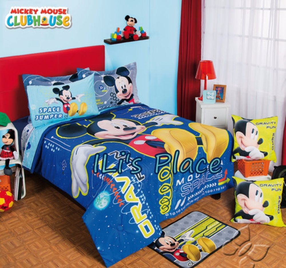 twin full size boys disney mickey mouse space comforter set disney bedding boutique ili 39 s. Black Bedroom Furniture Sets. Home Design Ideas