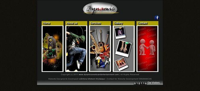 Dynamic Events Udaipur , event management website design, Event ...