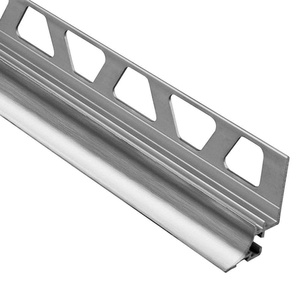 Schluter Dilex Ahka Brushed Chrome Anodized Aluminum 3 8 In X 8