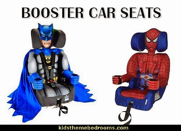 Batman toddler harnessed booster car seat -Spiderman toddler harnessed booster car seat