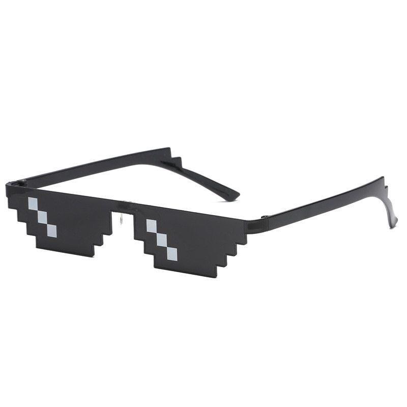 Us Seller Thug Life Deal Wth It Men Mosaic Pixel Glasses Women 2018 Polygonal Unbranded Goggle