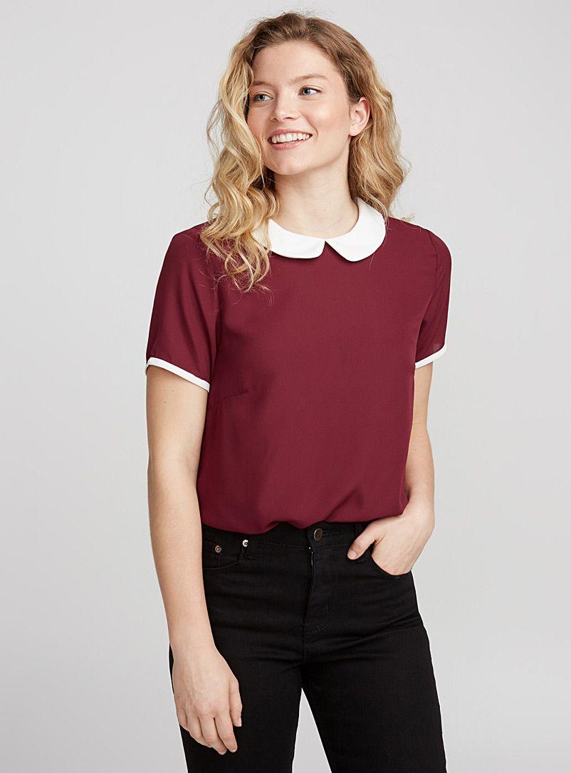 Peter Pan Collar Printed Blouse Twik Shop Women S Fluid Blouses Simons Peter Pan Collars Outfit Blouses For Women Fashion