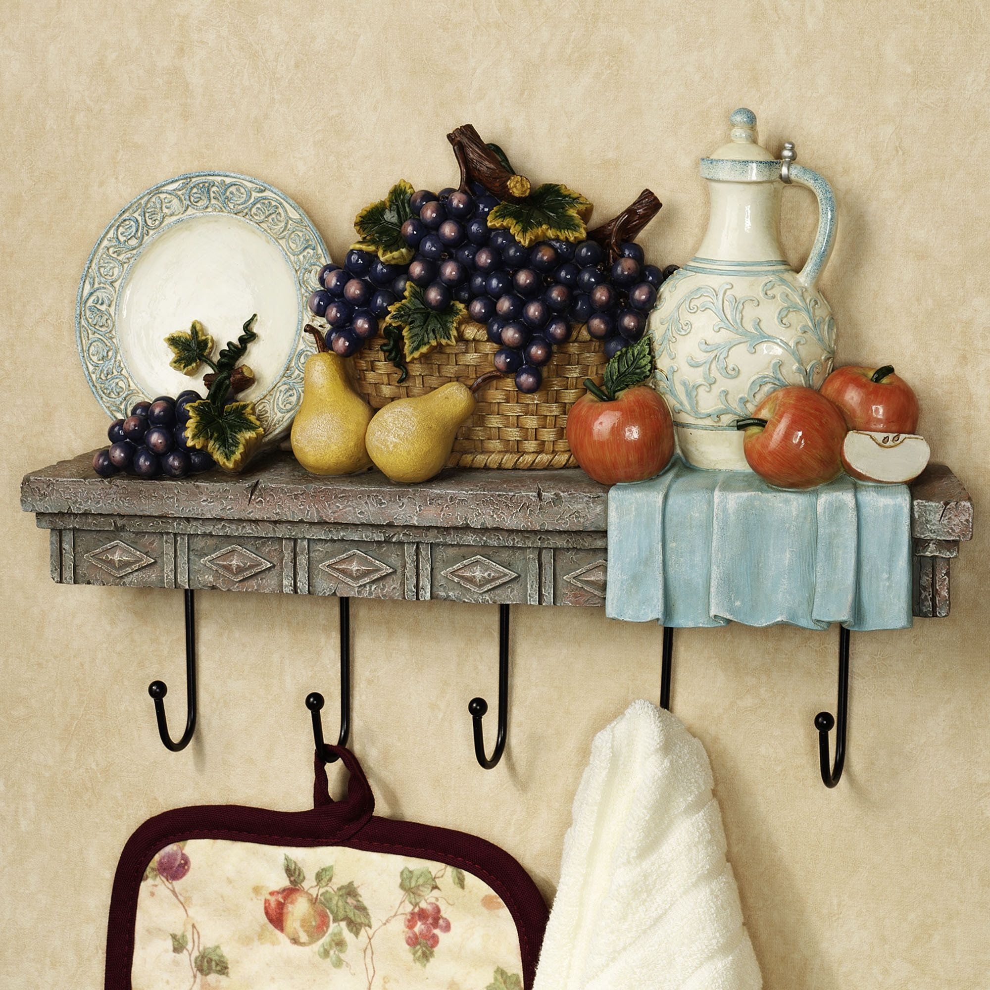 Tuscan table wall hook rack hook rack wall plates and home