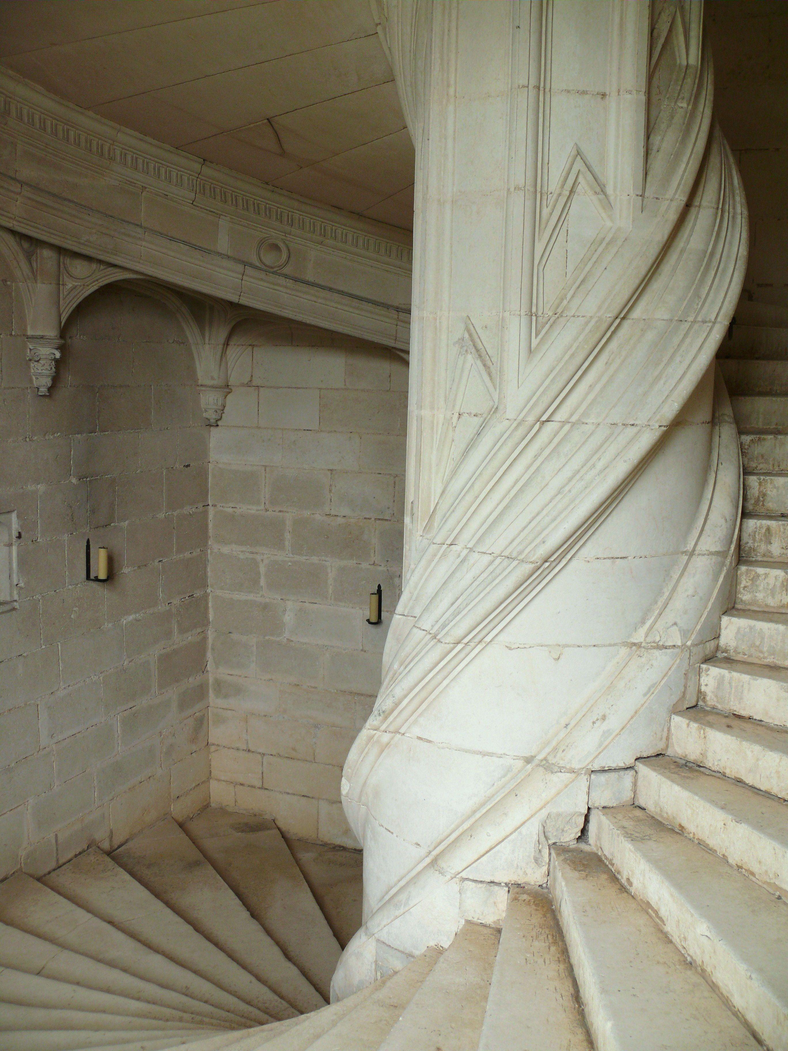 Double Helix Staircase Leonardo Da Vinci Chateau De Chambord