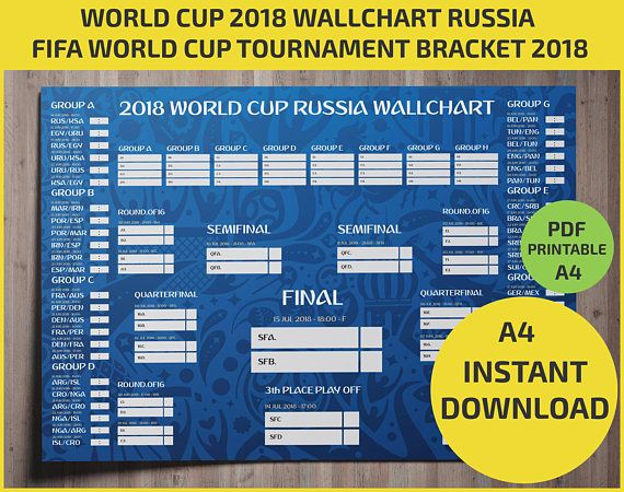 World Cup 2018 wallchart: Download or print off your