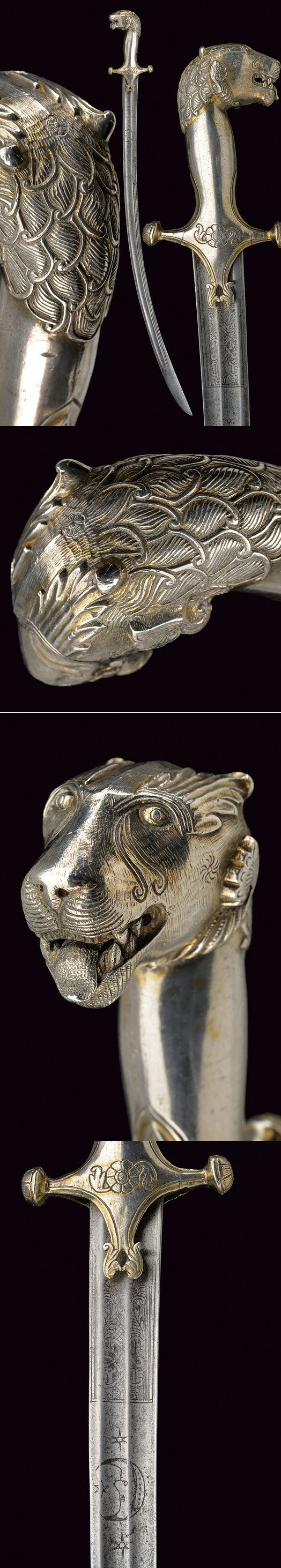 A silver hilted tulvar:dating: last quarter of the 18th Century provenance: India.