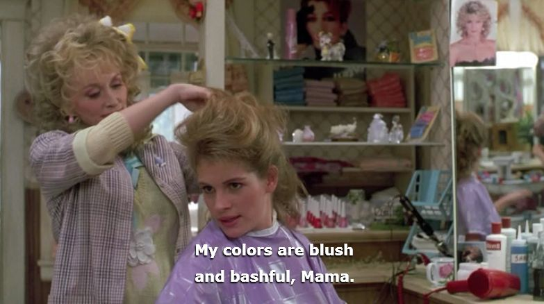 Image result for blush and bashful steel magnolias