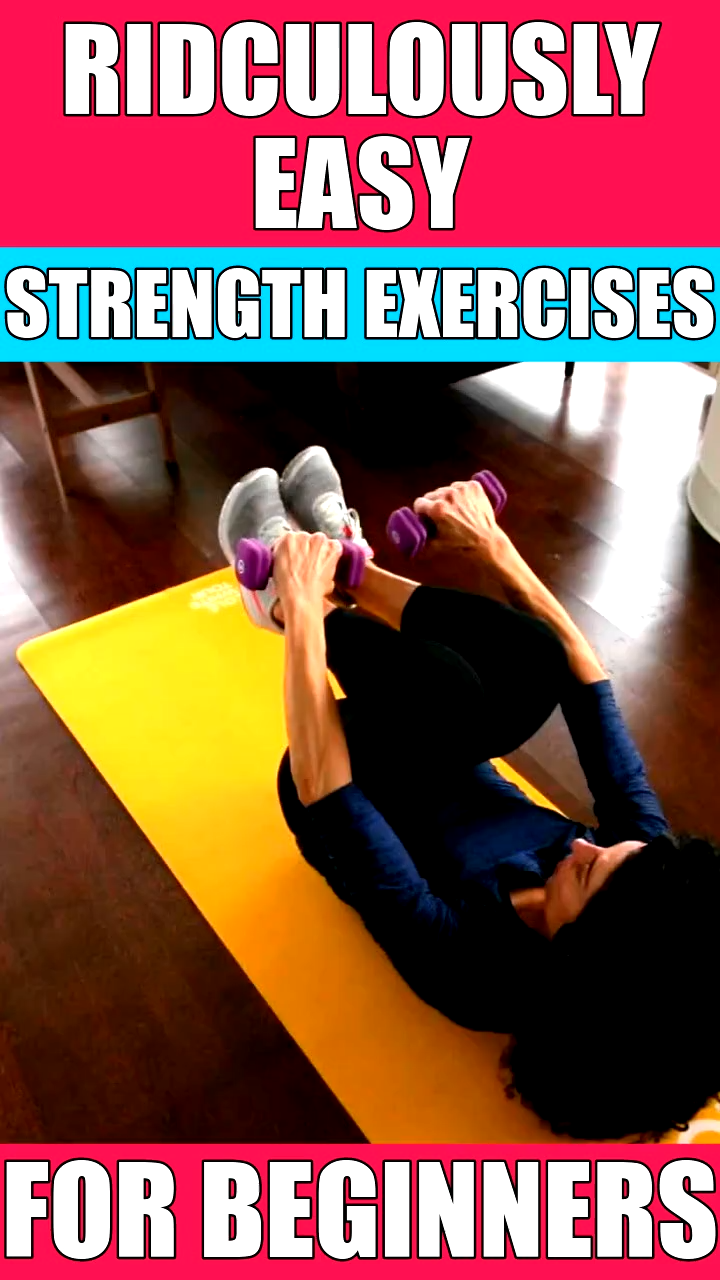 8 Ridiculously Easy Strength Exercises For Beginners | Whole Body Toning Workout