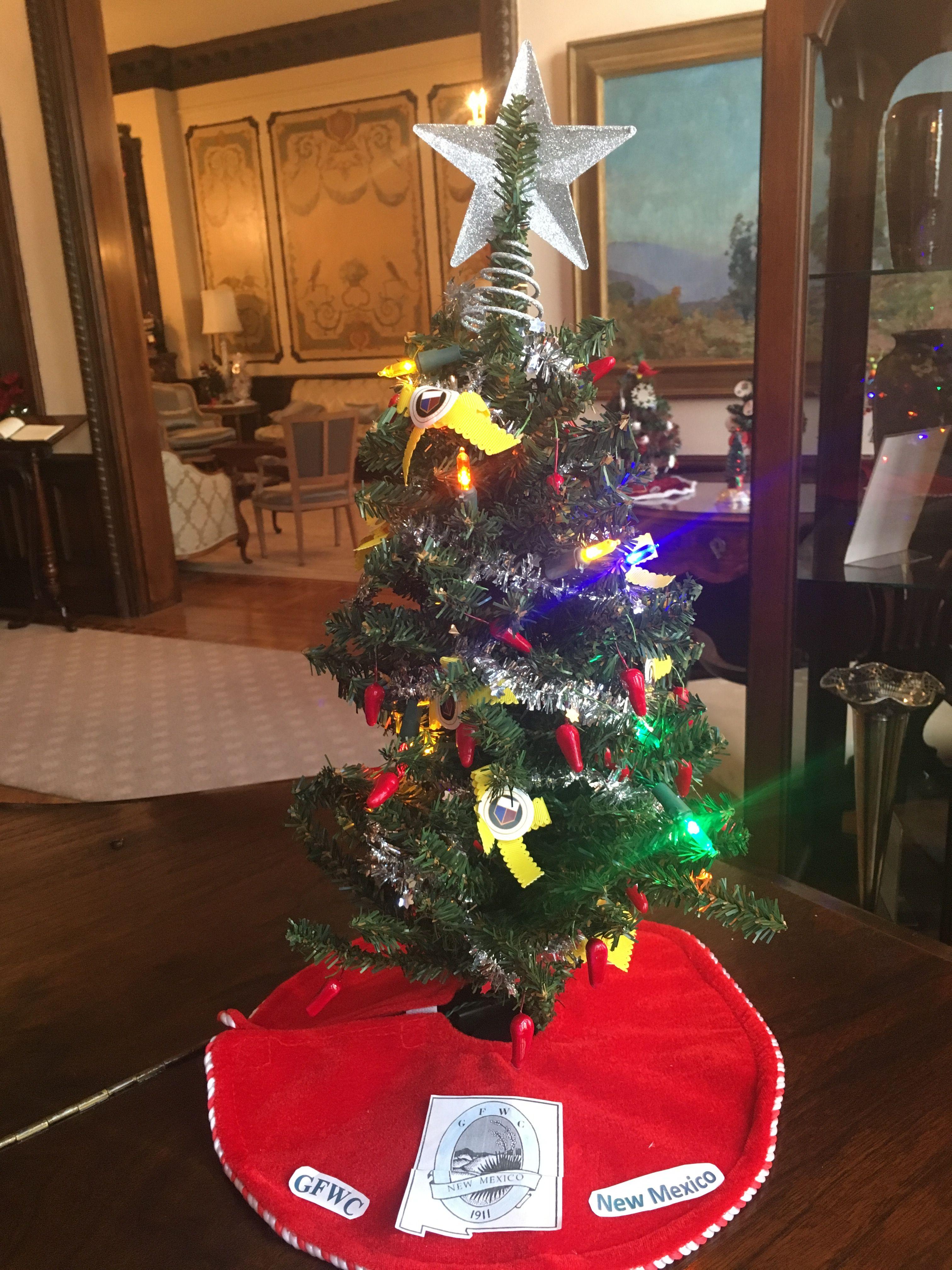 Gfwc New Mexico Holiday Decor Christmas Tree Christmas Tree Skirt