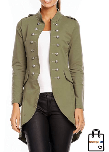 código promocional d0627 0c1d7 Chaqueta militar mujer #Chaquetamilitar #mujer #moda ...