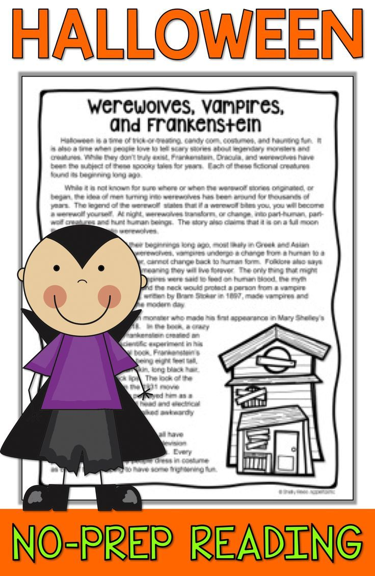 Halloween Reading Activities For 3rd 4th Grade 5th And Middle School Students Ar Reading Comprehension Passages Halloween Reading Passages Halloween Reading [ 1129 x 736 Pixel ]