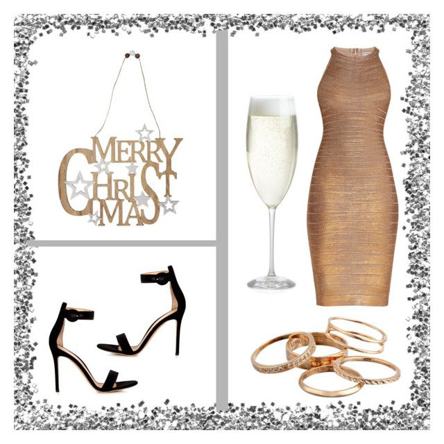 """""""Sans titre #410"""" by giirly1994 ❤ liked on Polyvore featuring Hervé Léger, M&Co, Gianvito Rossi, Kendra Scott and Crate and Barrel"""