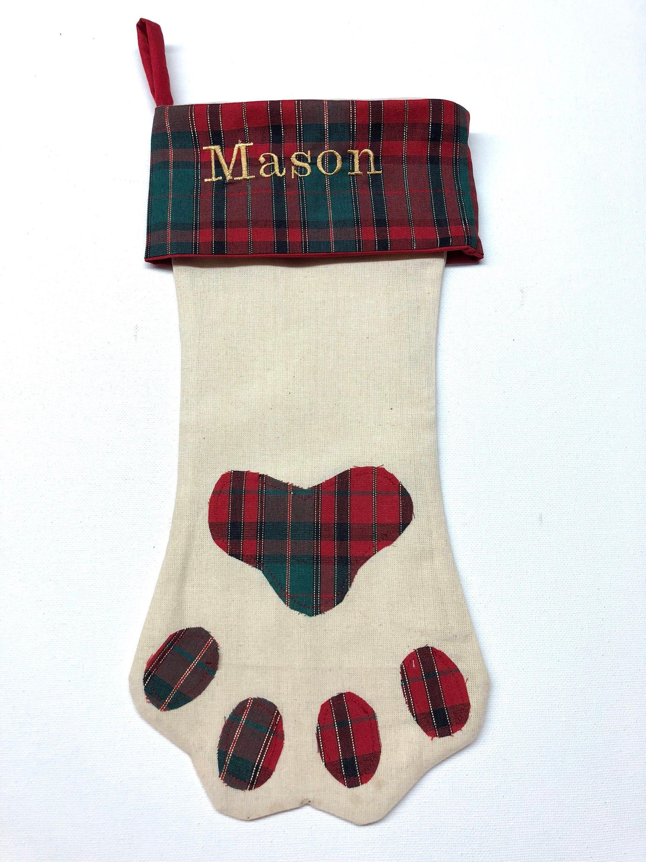 Personalized Christmas Stocking, Personalized Dog Stocking