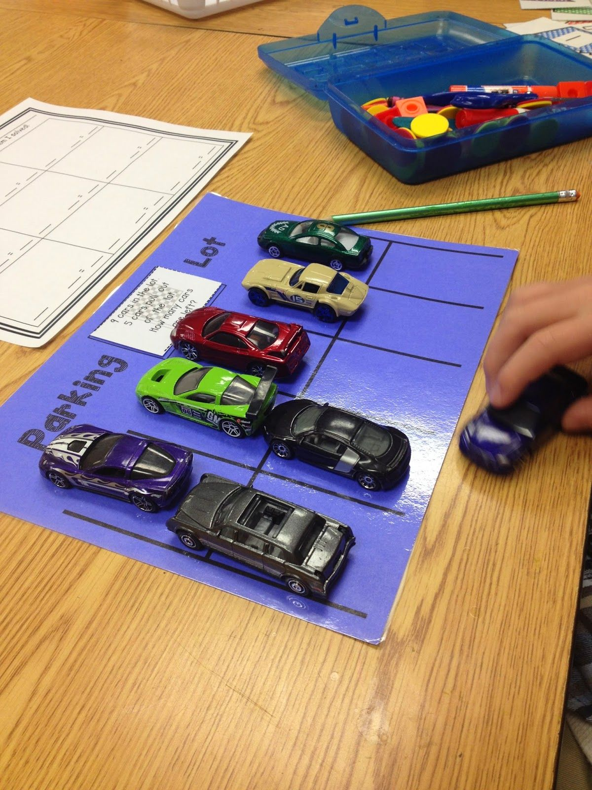Parking Lot Addition Subtraction Great Idea For The Boys