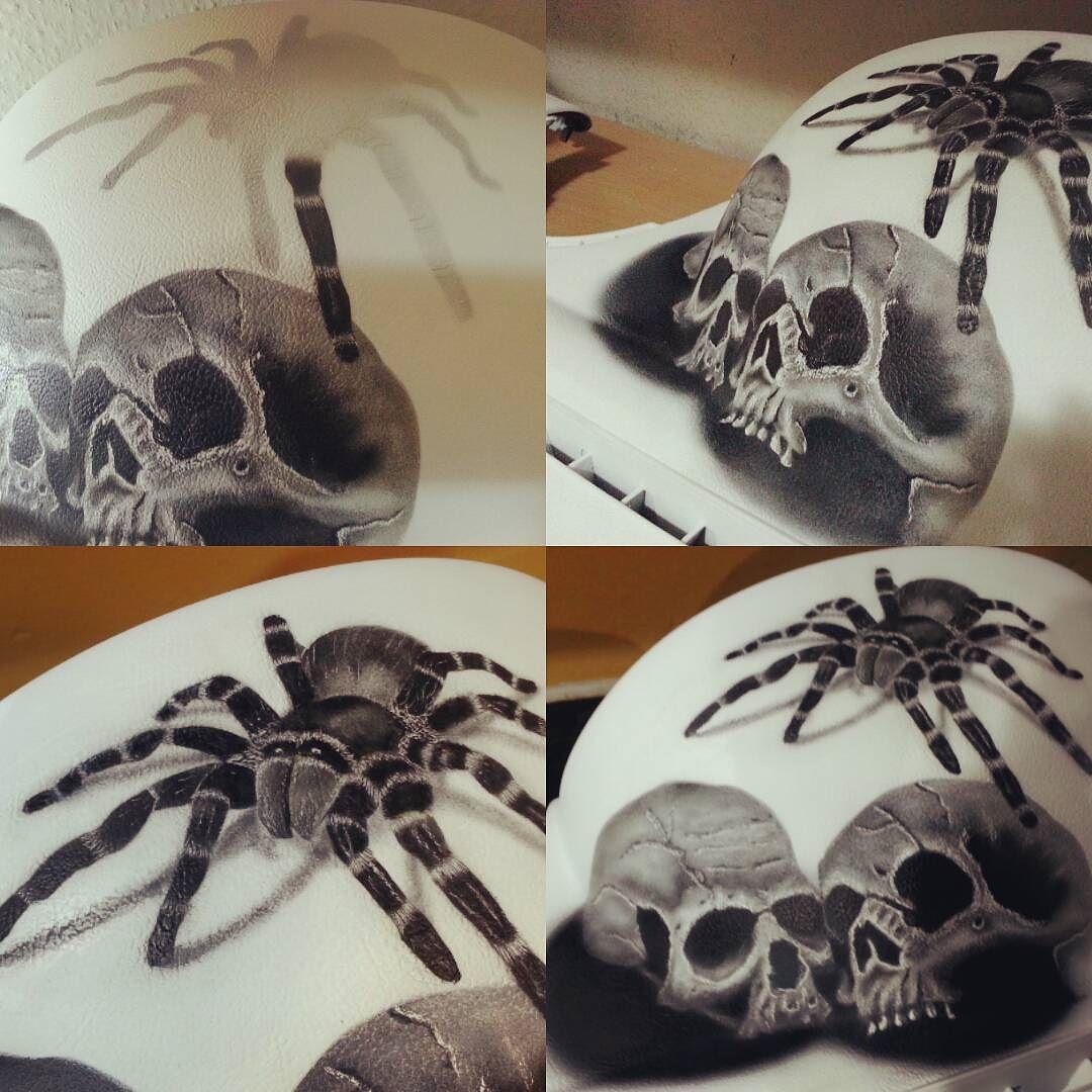 paint #skull #tarantula #airbrush #art #beautifull #art_empire ...
