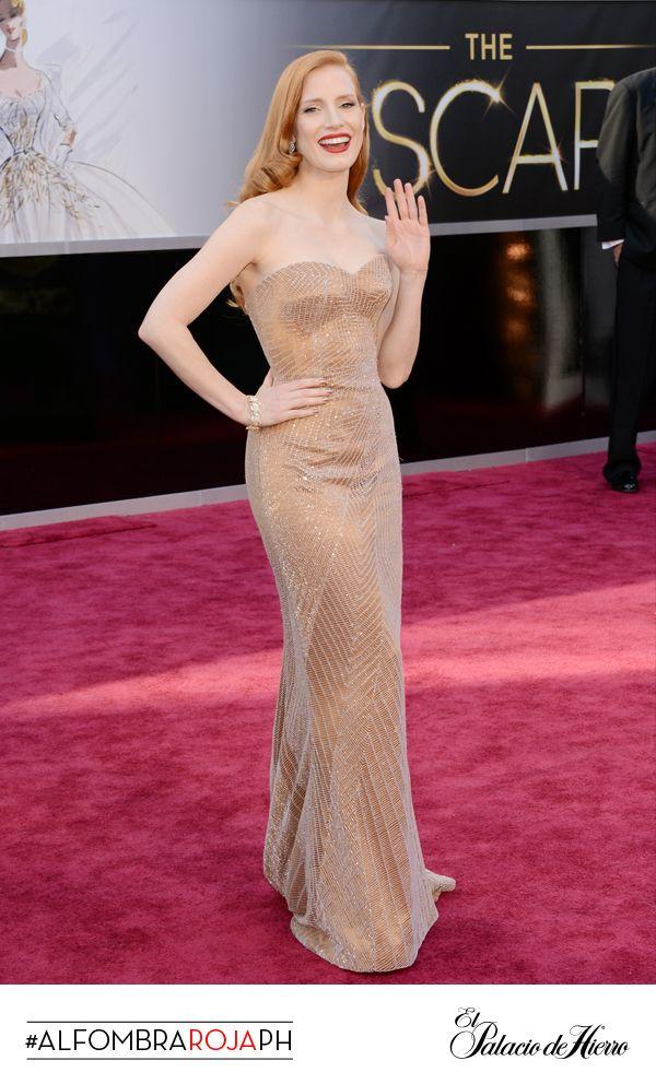 Jessica Chastain - Giorgio Armani - El Palacio de Hierro #Oscars 2013 #AlfombraRojaPH
