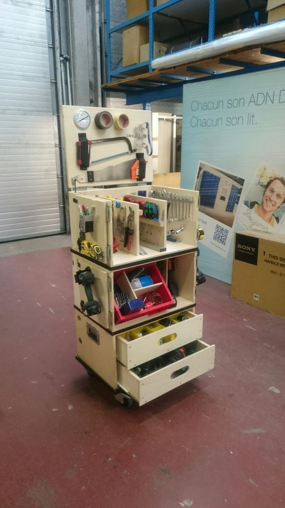 ultimate portable mobile toolbox woodworking insperation pinterest outils atelier et. Black Bedroom Furniture Sets. Home Design Ideas